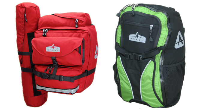 two arkel bicycle panniers