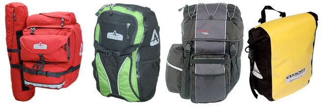 four popular bicycle panniers