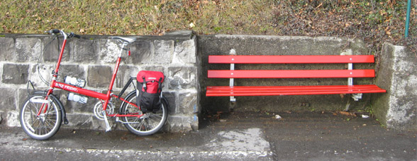 red Bike Friday folding bicycle