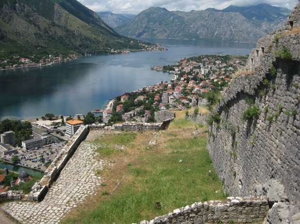 view from the top of kotor fortress