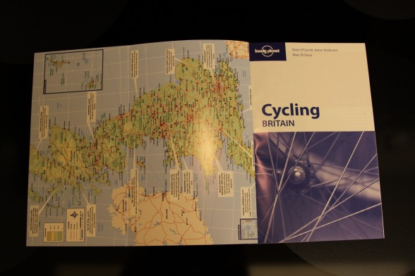 Cycling map of Britain