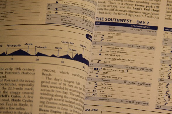lonely planet cycling guide cue sheets