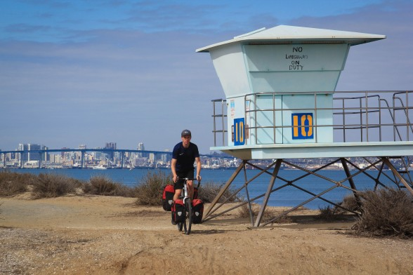 Bicycle Touring on the Coronado Bike Path
