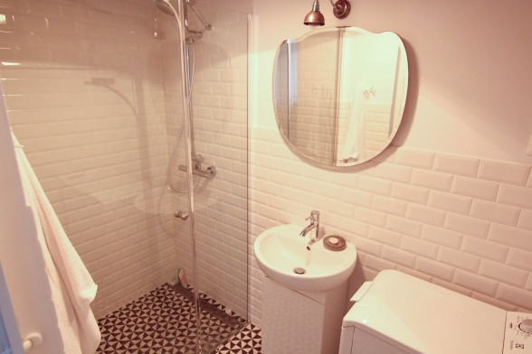 Poznan Poland studio apartment bathroom