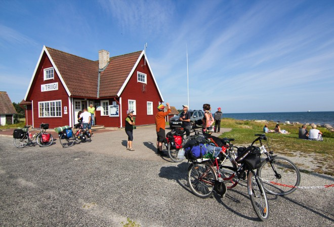 Estonia ferry crossing with bicycles
