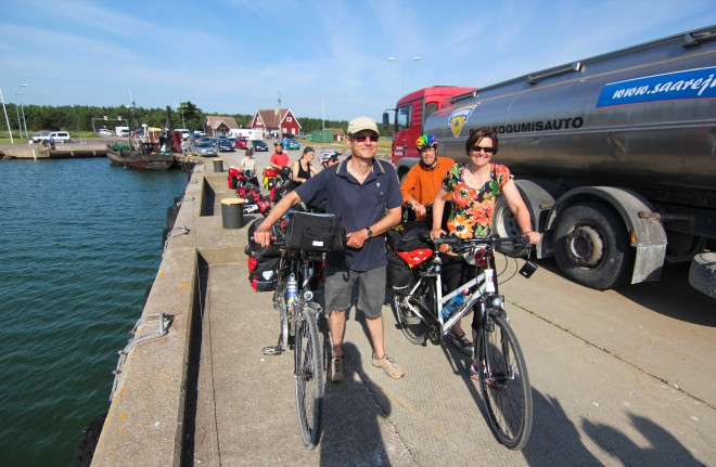 Estonia bicycle touring couple