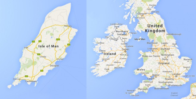Where is the Isle of Man? - Map of the Isle of Man