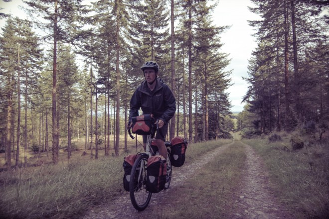 Forest bike tour near Rathdrum, Ireland