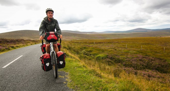 bicycle touring in Ireland's Wicklow Mountains
