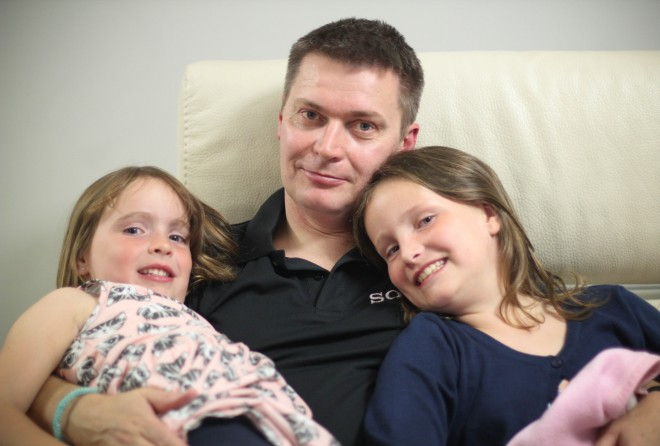 Jeff and his daughters