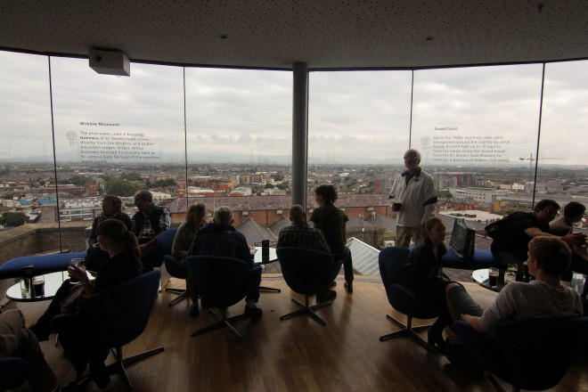 Guinness storehouse scenic view tower