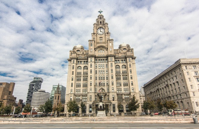 Capital Building in Liverpool, England