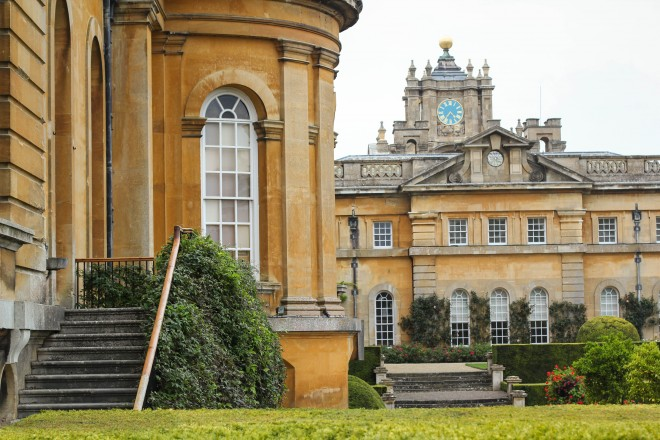 Side entrance to Blenheim Palace