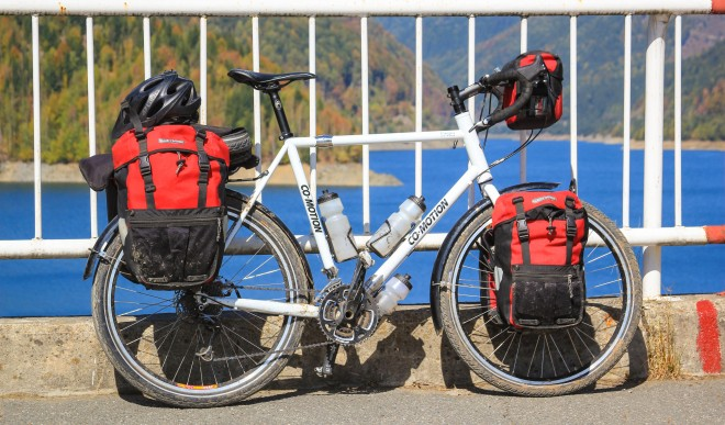 loaded-touring-bicycle-co-motion-pangea-ortlieb-panniers