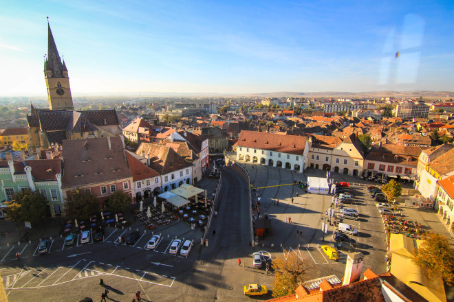 Sibiu Romania small square