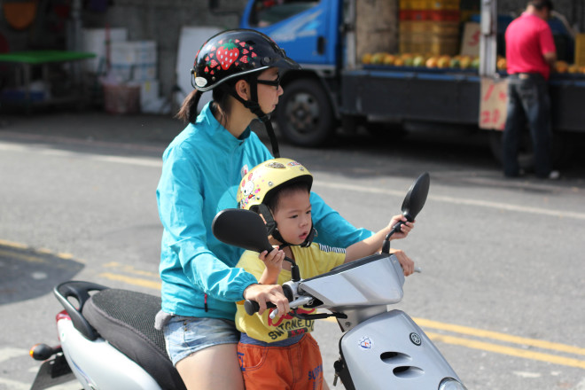 baby driving motorcycle