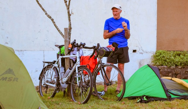 cycle touring and camping in asia