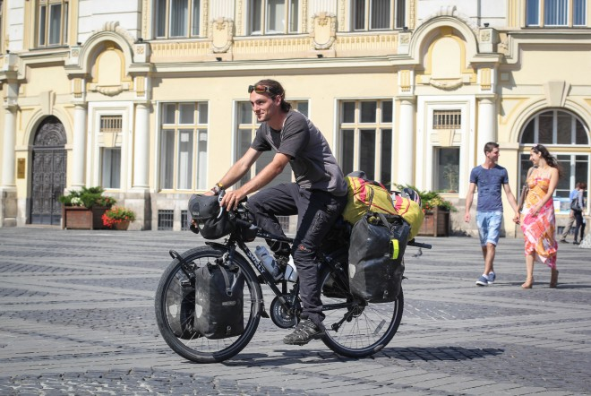 casey link bicycle touring in sibiu romania
