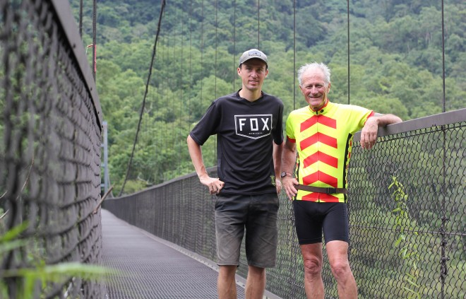 darren alff and kevin burrett - bicycle touring partners in taiwan