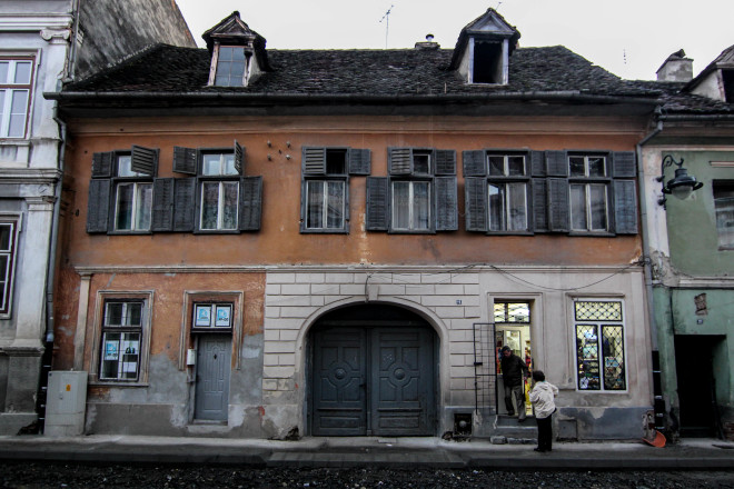 old romanian house and store