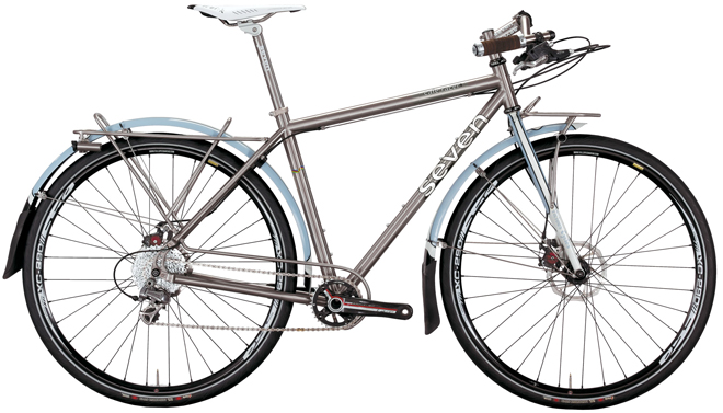Seven Cycles Cafe Racer touring bicycle