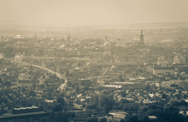 sibiu romania from above city