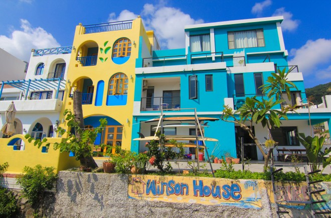surfing hostel Winson House in Taiwan