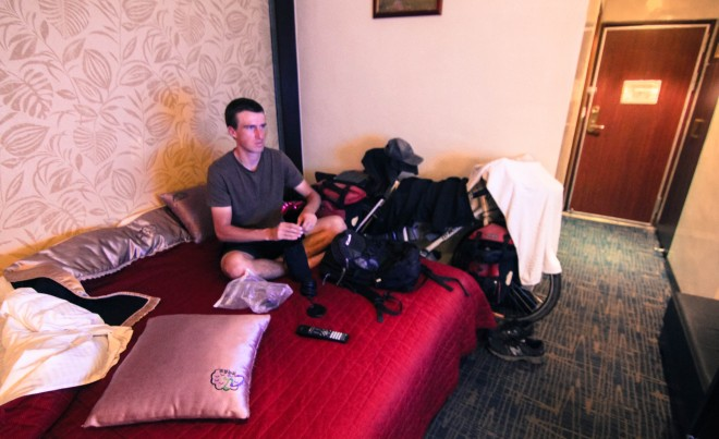 bicycle-touring-hotel-room
