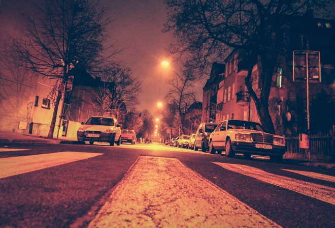 dark scary streets in poland