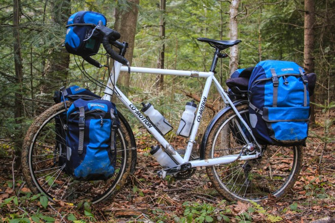 blue ortlieb plus panniers for your bicycle