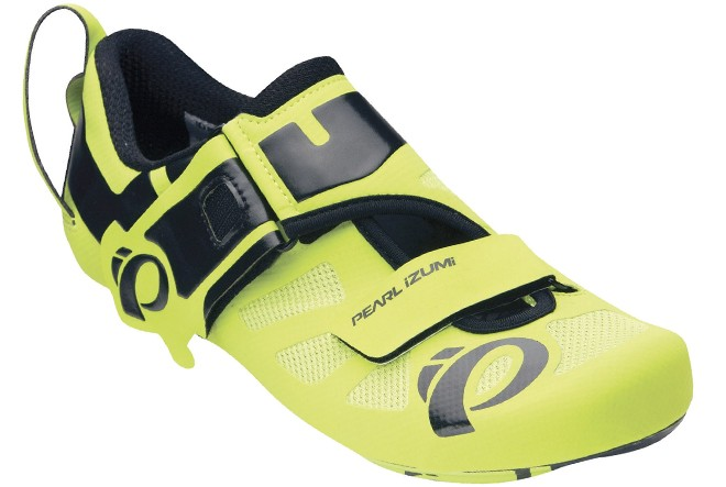 pearl izumi try fly octane yellow triathlon shoes