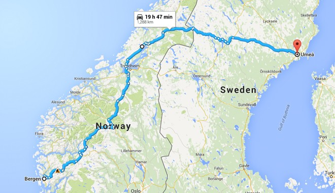 norway and sweden bicycle map