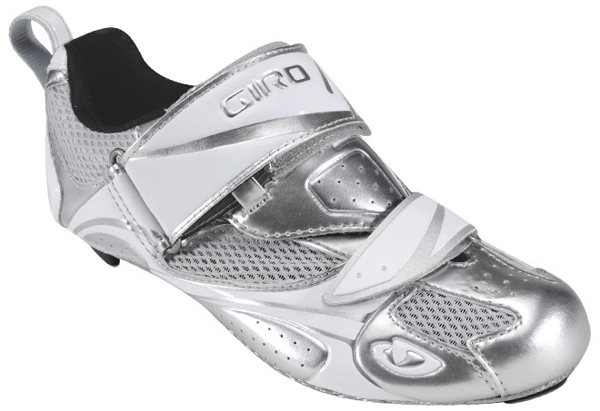 silver giro women's triathlon shoes