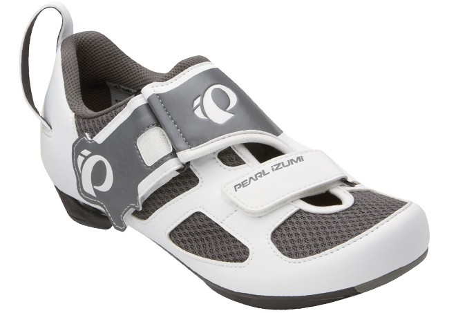 white gray triathlon shoes for women