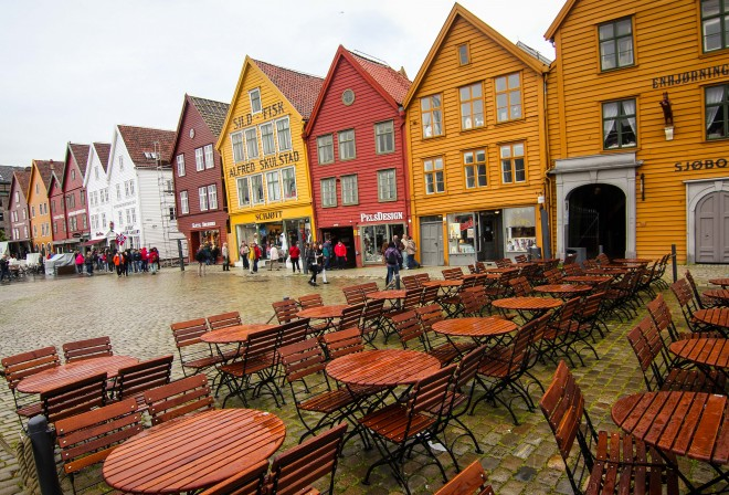 Bergen Norway wooden houses