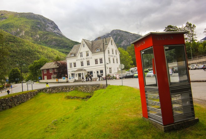 Kinsarvik Norway telephone booth and general store