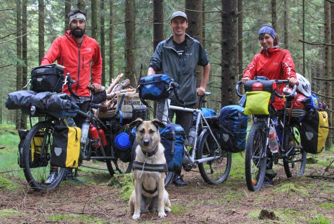 bike canine and bicycle touring pro using ortlieb panniers