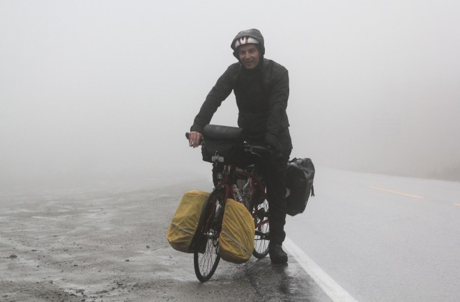 bicycle touring in the rain and cold