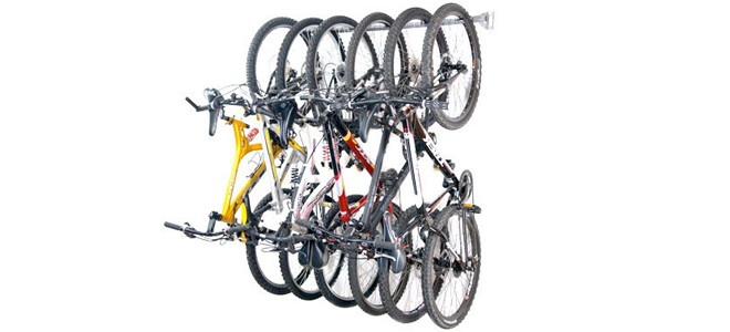 monkey bars hanging bike storage solution for garages