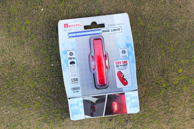 raypal usb rechargeable bicycle light 100 lumins