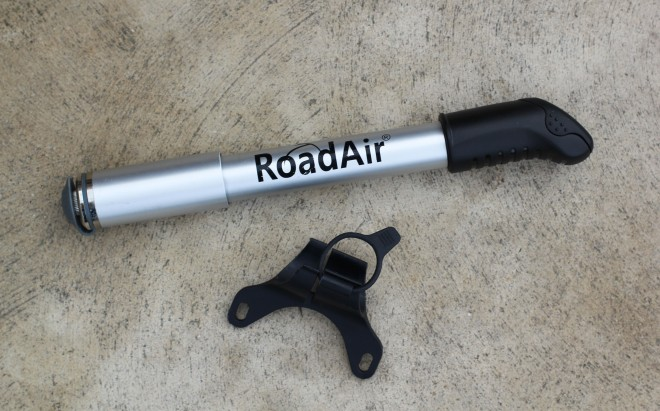 roadair bicycle tire pump and frame mount