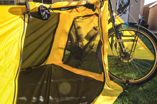 upon nova bike tent design