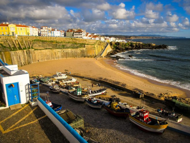 ericeira portugal boats and beach